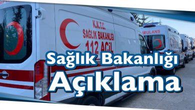 Photo of Sağlık Bakanlığı Açıklama
