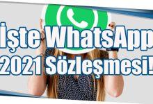 Photo of İşte 2021 WhatsApp Sözleşmesi