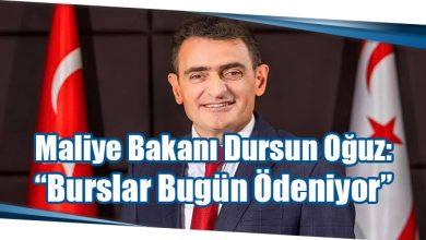 """Photo of Maliye Bakanı Dursun Oğuz: """"Burslar Bugün Ödeniyor"""""""