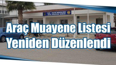 Photo of Araç Muayene Listesi Yeniden Düzenlendi