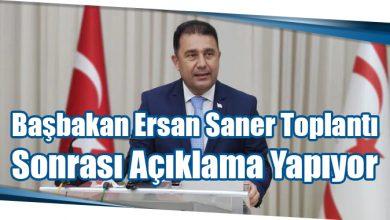 Photo of Başbakan Ersan Saner Toplantı Sonrası Açıklama Yapıyor