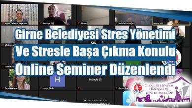 Photo of Girne Belediyesi Stres Yönetimi Ve Stresle Başa Çıkma Konulu Online Seminer Düzenlendi