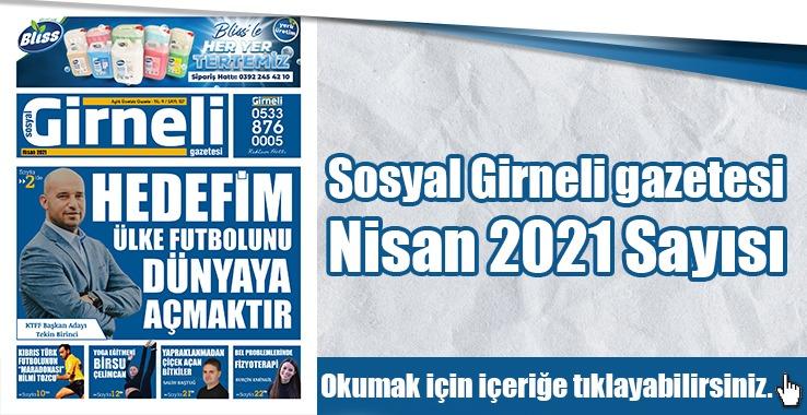 Photo of Sosyal Girneli gazetesi Nisan 2021 Sayısı
