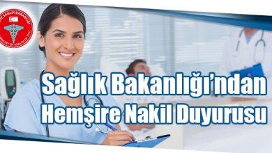Photo of Sağlık Bakanlığı'ndan Hemşire Nakil Duyurusu