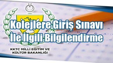 Photo of Kolejlere Giriş Sınavı İle İlgili Bilgilendirme