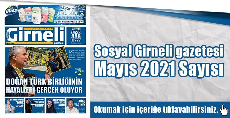 Photo of Sosyal Girneli gazetesi Mayıs 2021 Sayısı