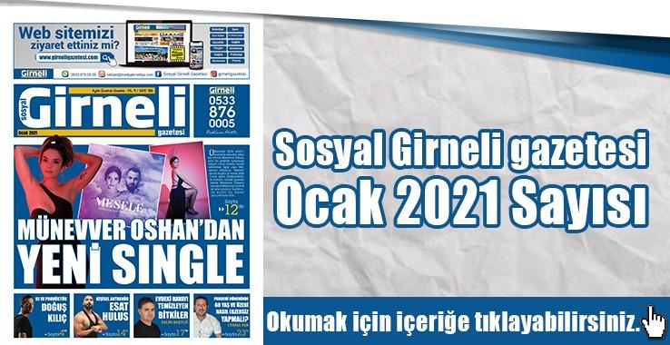 Photo of Sosyal Girneli gazetesi Ocak 2021 Sayısı