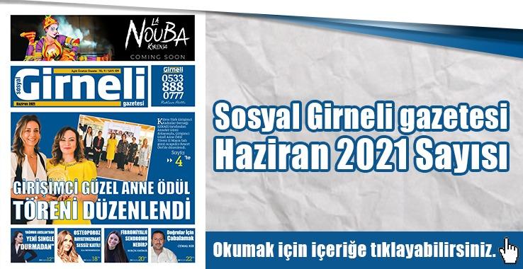 Photo of Sosyal Girneli gazetesi Haziran 2021 Sayısı