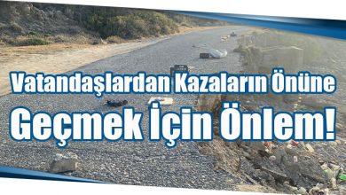 Photo of Vatandaşlardan Kazaların Önüne Geçmek İçin Önlem!