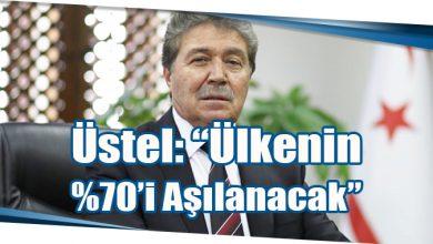 """Photo of Üstel: """"Ülkenin %70'i Aşılanacak"""""""