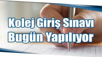 Photo of Kolej Giriş Sınavı Bugün Yapılıyor