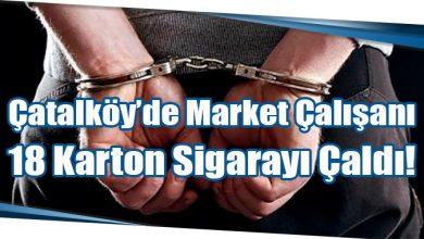 Photo of Çatalköy'de Market Çalışanı 18 Karton Sigarayı Çaldı!